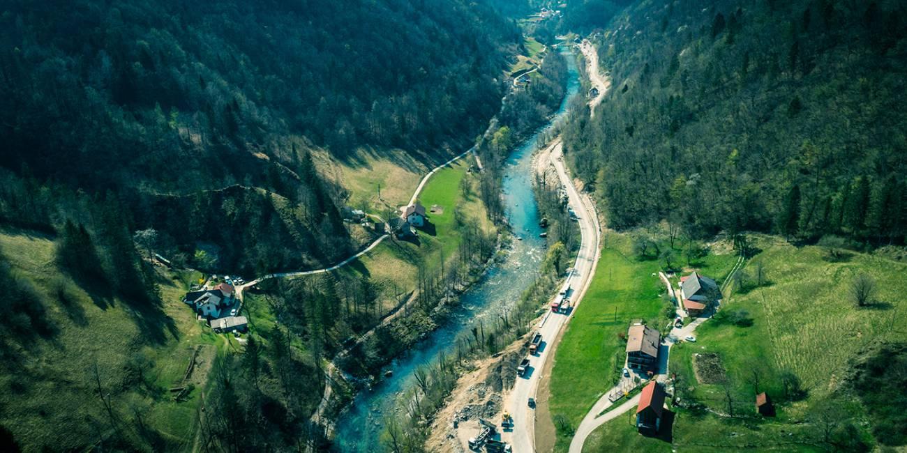Rekonstrukcija glavne ceste Dolenja Trebuša–Želin I.odsek
